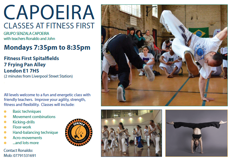 Monday capoeira classes in London Liverpool Street